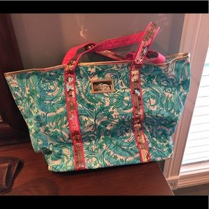 Lily Pulitzer bag sorority edition- alpha delta pi